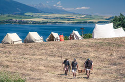 Roman militair kamp Royalty-vrije Stock Afbeelding