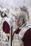 Roman militairen, genoemd Goede Armaos, van het broederschap van Gr Nazareno, royalty-vrije stock afbeeldingen