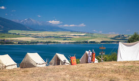 Roman military camp Stock Images