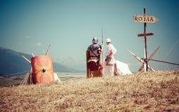 Roman military camp Stock Photo