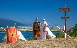 Roman military camp Royalty Free Stock Image
