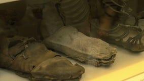 Roman Military Footwear stock video