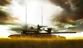 Roman military on the tank TR85M1 Royalty Free Stock Photos