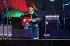 Roman Miroshnichenko plays guitar Stock Photos