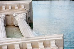 Roman monument. Sunk in water stock photography