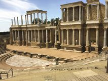 Merida ancient amphitheater royalty free stock photography