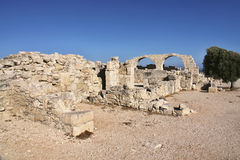 Roman monuments Kourion, Cyprus Stock Photography