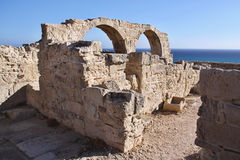 Roman monuments Kourion, Cyprus Royalty Free Stock Photo