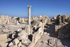 Roman monuments Kourion, Cyprus Stock Photos