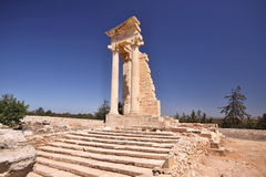 Roman monuments Kourion, Cyprus Royalty Free Stock Photos