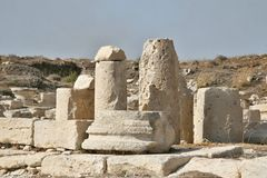 Roman monuments Kourion, Cyprus Royalty Free Stock Images