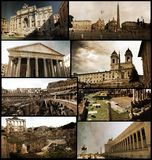 Roman monuments and places Stock Photos