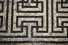 Roman Mosaic Abstact Pattern. A Roman mosaic from Bignor Roman Villa Sussex England Stock Illustration
