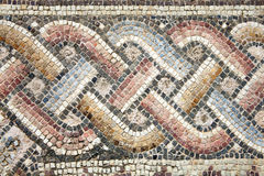 Roman mosaic. Abstract 2nd century Roman mosaic border Stock Photos