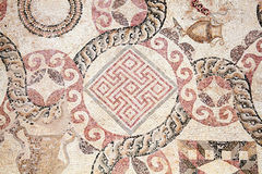 Roman mosaic. Abstract 2nd century Roman mosaic border Stock Photo