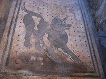 Roman mosaic in the ancient city Royalty Free Stock Images