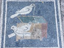 Roman mosaic in the ancient city Stock Photography