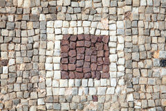 Roman mosaic border. Abstract 2nd century Roman mosaic border Stock Photo