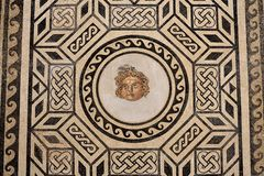 Roman mosaic in the Christian Kings Alcazar, Spain royalty free stock photo