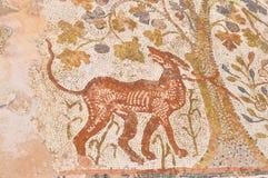 Roman Mosaic Floor antiguo en Macedonia Imagen de archivo libre de regalías