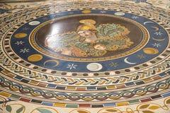 Roman Mosaic Floor antique dans les musées de Vatican à Ville du Vatican à Rome Italie Photo stock