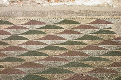 Roman Mosaic floor. Caracalla baths, ancient Roman mosaic floor, Rome, Italy royalty free stock images