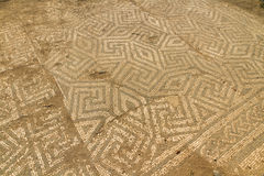 Roman mosaic floor at Ostia Antica Italy Stock Photography