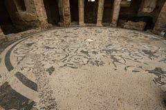 Roman mosaic floor at Ostia Antica Italy Stock Images