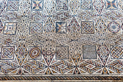 Roman mosaic fragment. National Museum of Roman Art in Merida, Spain Stock Photos