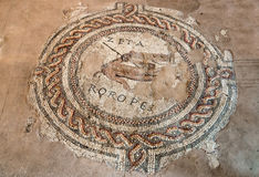 Roman mosaic fragment in Verona Royalty Free Stock Image