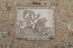 Roman mosaic. Historic Roman mosaic on the wall in medina in Sousse . Tunisia . Africa Stock Image