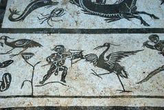 Roman mosaic, Italica, Seville. Stock Photos