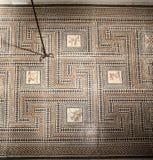 Roman Mosaic Lyon France foto de archivo