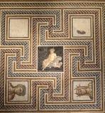 Roman Mosaic Lyon France imagen de archivo