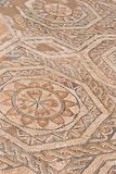 Roman mosaic in Nora, Italy stock photo