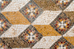 Roman Mosaic. Small Tiled Colorful Mosaic from Ancient Rome Stock Photography