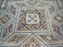 Roman mosaics. In Conimbriga ruins, Portugal Stock Photo