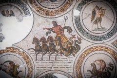 Roman mosaics. The Bard Tunis, collection of Roman mosaics Stock Photos