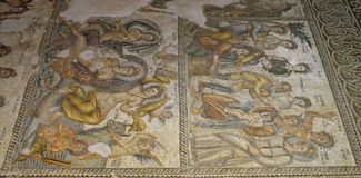 Roman Mosaics in House of Aion Stock Photography