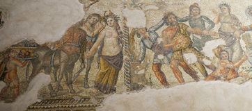 Roman Mosaics in House of Aion Stock Photos