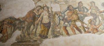 Roman Mosaics i hus av Aion arkivfoton