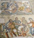 Roman Mosaics i hus av Aion royaltyfri bild