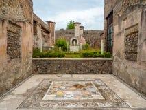 Roman mosaics in Pompeii, Italy. World Heritage List. Royalty Free Stock Photography