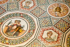roman mosaik Arkivfoto