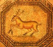 Roman mozaïek van een gouden mannetje Royalty-vrije Stock Afbeelding