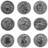 roman mynt royaltyfri bild