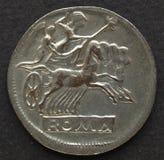 roman mynt Arkivbild