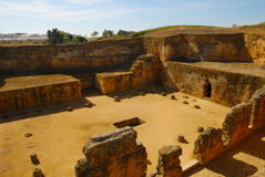 Roman necropolis. The Roman Necropolis of Carmona (Spain) dates from the 1st century. The corpses were cremated in ovens dug into the rock. Sometimes these ovens Stock Photos
