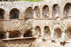 Roman necropolis wall in ancient Ostia Royalty Free Stock Photo