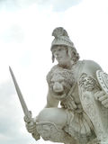 Roman Night warrior. Sitting in front of coliseum show pattaya chonburi thailand Stock Images